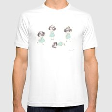 Funny child Mens Fitted Tee MEDIUM White