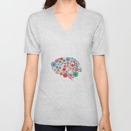 Flower brain Unisex V-Neck