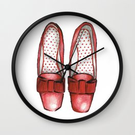 Red Shoes Wall Clock