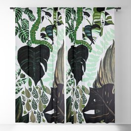 assorted leaves Blackout Curtain