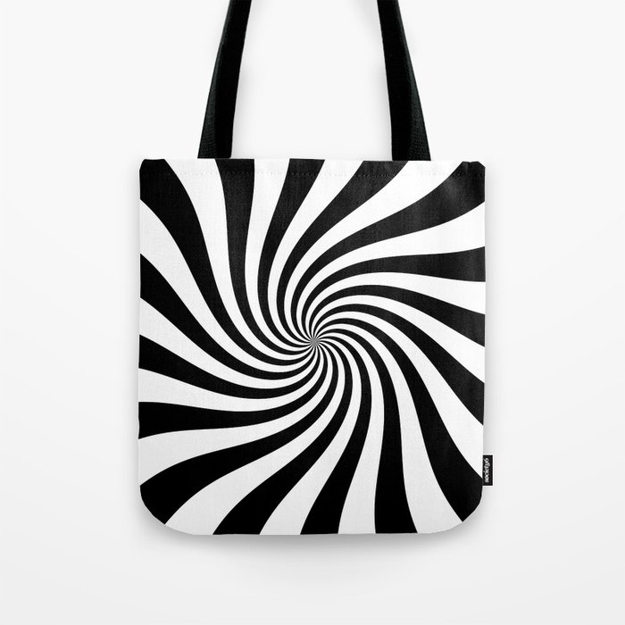 Swirl (Black/White) Tote Bag