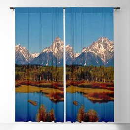Grand Tetons of Wyoming in Autumn Blackout Curtain