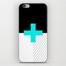 Neon Cross (Blue) // Neon Plus (Blue) iPhone & iPod Skin
