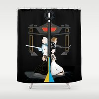 tron Shower Curtains featuring Tron by Sara E. Snodgrass