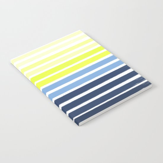 Stripes - Navy and Yellow -- Bright Summer Stripe Design for Cell Phone Case Notebook