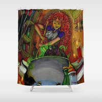 witch Shower Curtains featuring Witch by Mr Sarah Lou