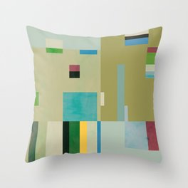 The Rice Paddy Field - Before Throw Pillow