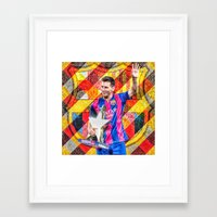 messi Framed Art Prints featuring Messi by Cr7izbest