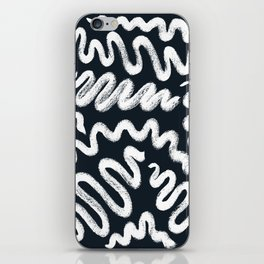 Chalky Squiggle print iPhone Skin
