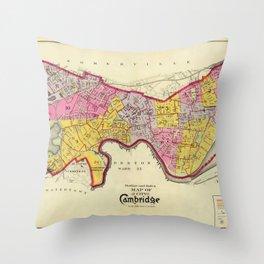 Cambridge Massachusetts 1903 Throw Pillow