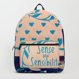 Sense and Sensibility Book Photo Backpack