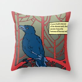Crow habits. Throw Pillow