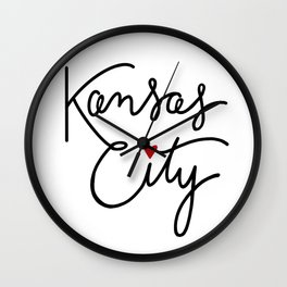 Cursive Kansas City Love Wall Clock