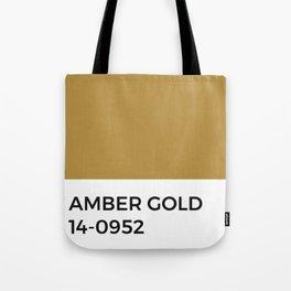 Amber Gold Ochre Pantone Chip Tote Bag