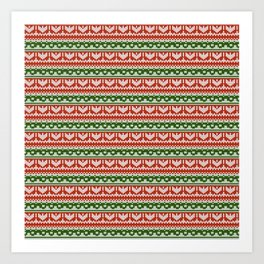 Abstract pattern: christmas Art Print