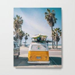 Venice Beach Surf Van Metal Print