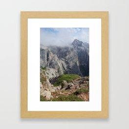 Dolomite peaks Framed Art Print