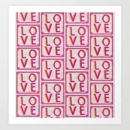 LOVE Ceramics pattern Art Print
