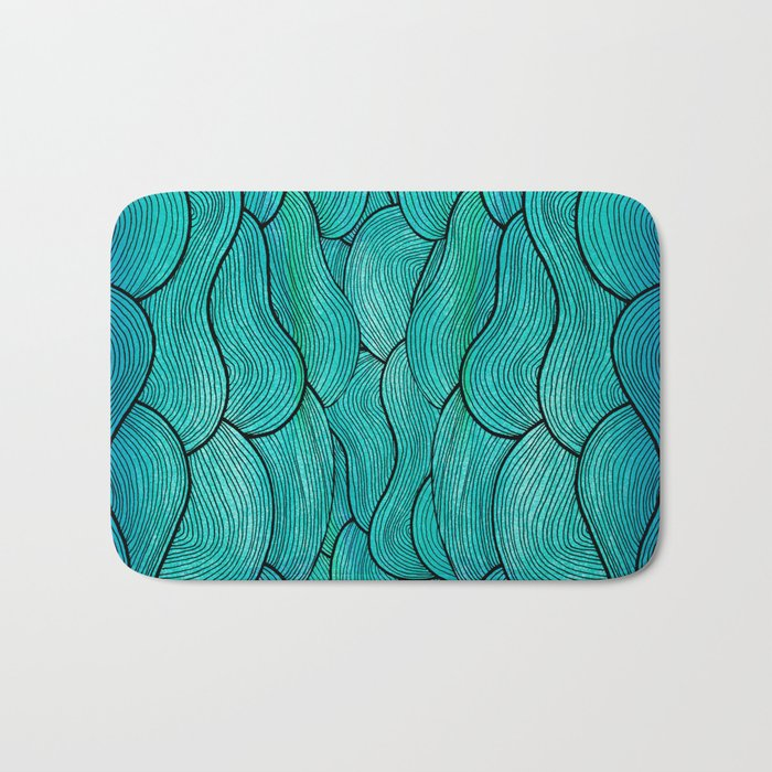 Sea Waves Bath Mat