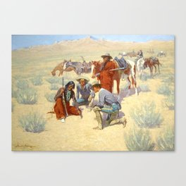 """Western Art """"A Map in the Sand"""" by Frederic Remington Canvas Print"""