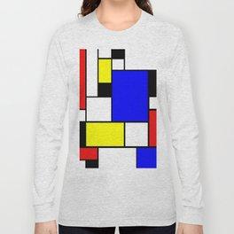 Mondrian Style Long Sleeve T-shirt