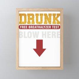 Beer Alcohol Tester Beverage Liquor Mead Gift Drunk Breathalyzer Test Framed Mini Art Print