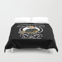 tesla Duvet Covers featuring Nikola Tesla steampunk by Buby87