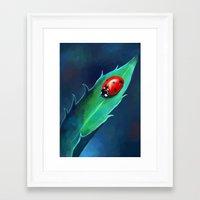 ladybug Framed Art Prints featuring Ladybug by Freeminds
