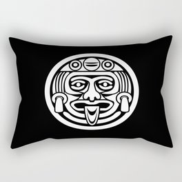 Mayan Face (White) Rectangular Pillow