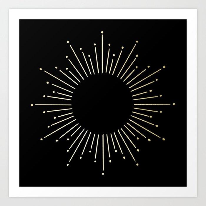 Mod Sunburst Gold 1 Art Print