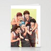 kuroko Stationery Cards featuring KUROKO NO BASUKE - SEIRIN by kvei