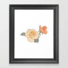 Handdrawn Roses Framed Art Print