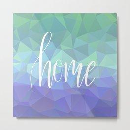 Home low polygon artwork Metal Print