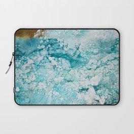 Fluid abstraction, Ocean, sea, Resin art Edit Laptop Sleeve