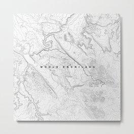 Whole Enchilada Trail Map Metal Print