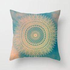 GOLDEN SUN MANDALA Throw Pillow
