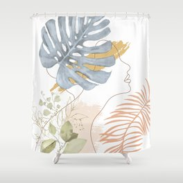 Line in Nature III Shower Curtain