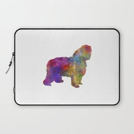 Polish Lowland Sheepdog in watercolor  Laptop Sleeve