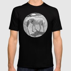 Cute young miniature horse MEDIUM Black Mens Fitted Tee