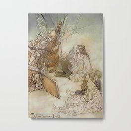 """Another Part of the Forest"" from Shakespeare by Arthur Rackham Metal Print"