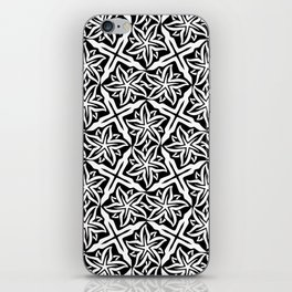 Jasmine and Stars - Color: Black&White iPhone Skin