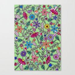 Bee Garden Canvas Print