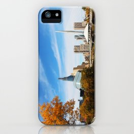Downtown Winnipeg 2 Picture Panorama iPhone Case