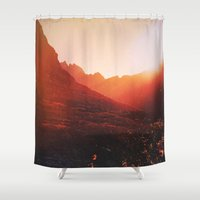 bruno mars Shower Curtains featuring Mars. by Polishpattern