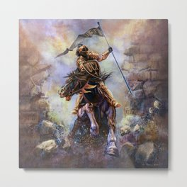 UCF Knight Charge Metal Print