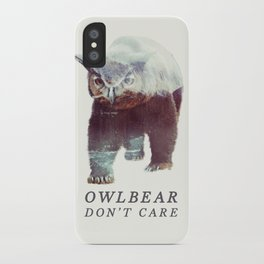 Owlbear (Typography) iPhone Case