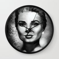 grace Wall Clocks featuring Grace by Lily Fitch