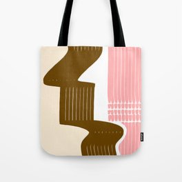 Classic Neapolitan Ice Cream Abstract Tote Bag