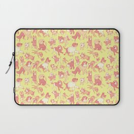 Dogs In Sweaters (Yellow) Laptop Sleeve