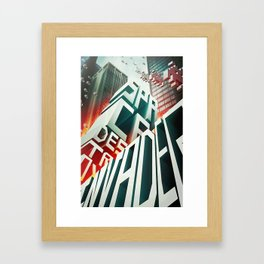 Invaders in the city Framed Art Print